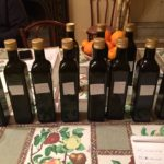11 of the olive oils produced on the estate from 3 different types of olives