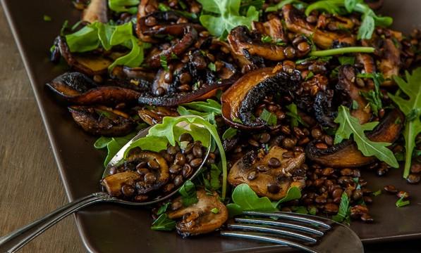 Mushroom and Lentil Salad (Vegan) featured image