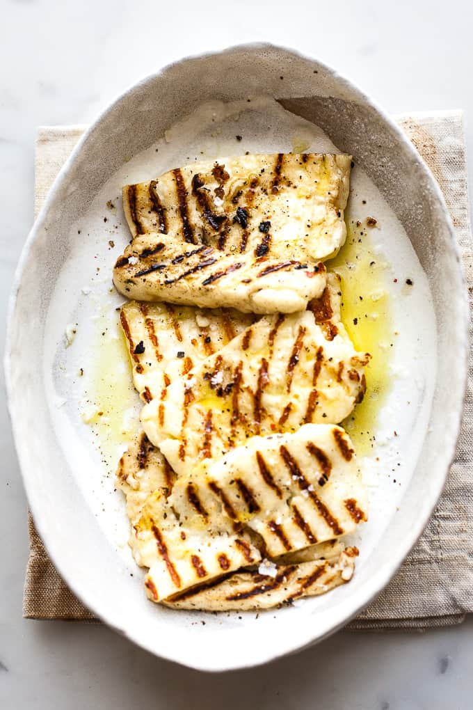 Fried halloumi cheese featured image
