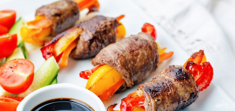 Balsamic Glazed Rump Steak Stuffed with Peppers featured image
