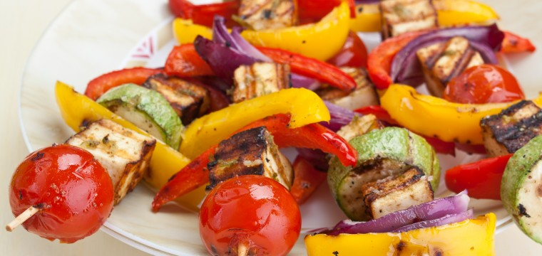 Vegetable halloumi kebabs (v) featured image