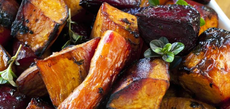 Balsamic sweet potatoes vegan featured image