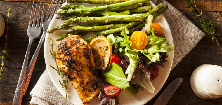 Lemon chicken with asparagus featured image