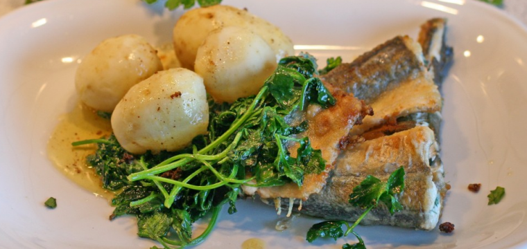 Cod with orange and dill crumb and potatoes featured image