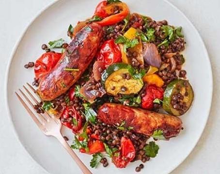 Sausage, Roasted Vegetable & Puy Lentil One Pot featured image