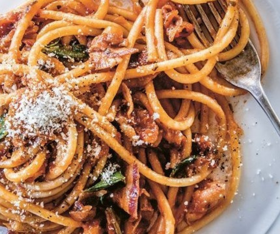 Spicy Bucatini Amatriciana featured image