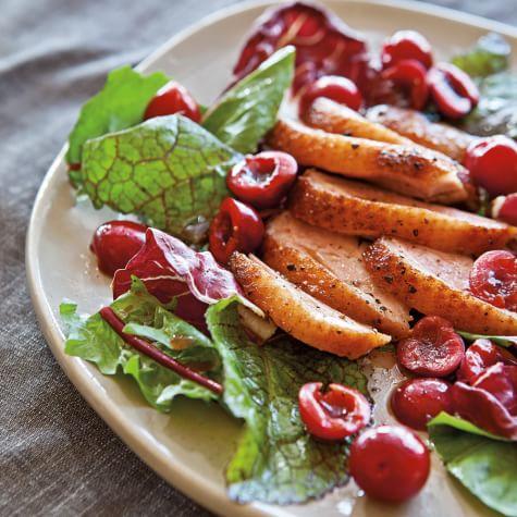 Smoked Duck ,Cherry & Basil Salad